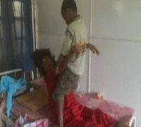 boy helps sick mother