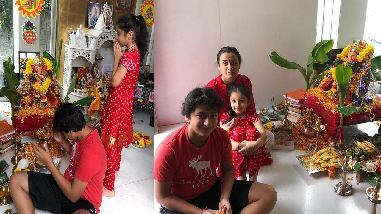 Mahesh Babu family celebrates Vinayaka Chavithi