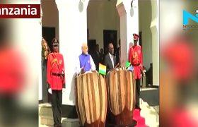 PM Modi plays traditional drum